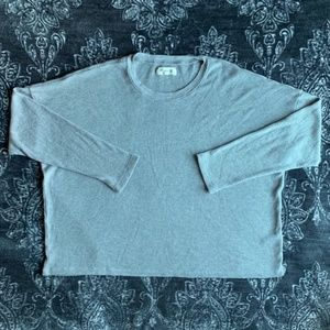 Madewell Grey Thermal Long Sleeve Top Size XXL